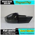 A & t acessórios de estilo de carro para honda city luzes traseiras 2015 led lâmpada traseira da lanterna traseira honda city drl + freio + parque + luzes de sinalização