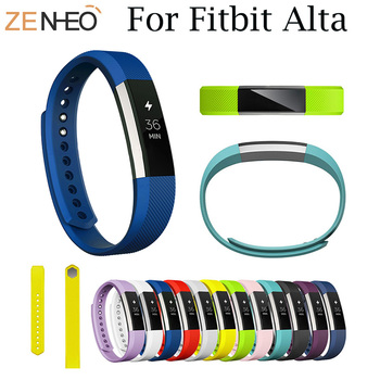 Silicone Watchband For Fitbit Alta High Quality Replacement Smart Bracelet Wrist Band Strap For Fitbit Alta HR Band Wristband high quality replacement alloy crystal rhinestone wristband band strap bracelet for fitbit alta for fitbit alta hr watch band