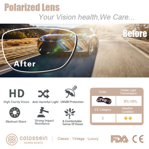 Image 3 - COLOSSEIN MSTAR サングラス女性偏光 2019 新ファッションサングラス高級段階的な光ソフトクラシック眼鏡 UV400