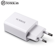 TOMKAS USB Charger Adapter 5V 2A Fast Portable Charger Wall EU Plug Travel Phone Chargers for iPhone iPad Samsung Mobile Device