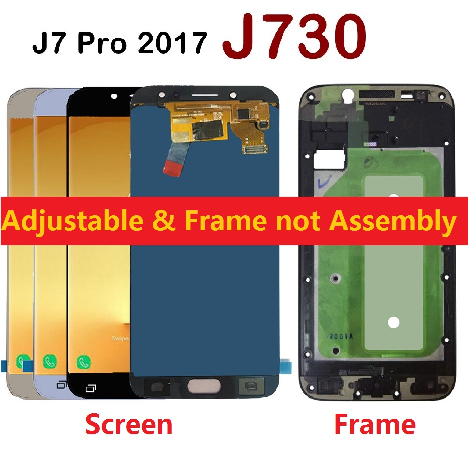 Adjustable Brightness For Samsung Galaxy J7 Pro 2017 J730F J730FN J730M J730F/DS LCD Display Touch Screen Digitizer Sensor FrameAdjustable Brightness For Samsung Galaxy J7 Pro 2017 J730F J730FN J730M J730F/DS LCD Display Touch Screen Digitizer Sensor Frame