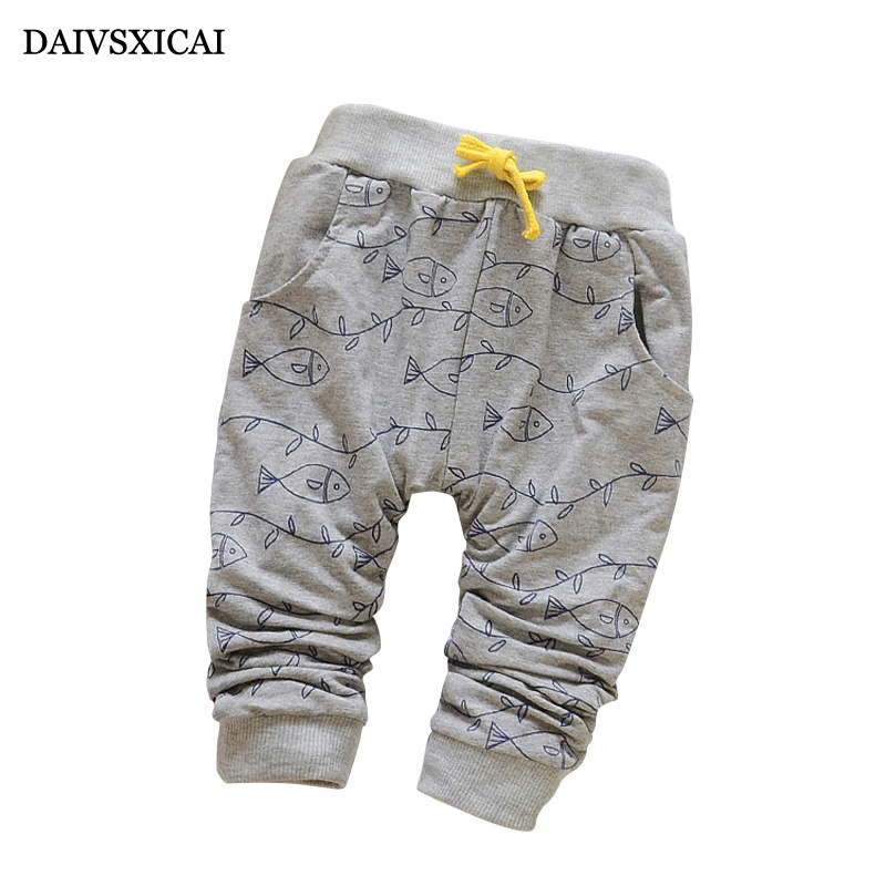 Daivsxicai Spring Lovely Fish Baby Pants Fashion Boy Newborn Baby Pants Brand Cotton Children's Pants Clothing Autumn 7-24M