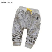 Daivsxicai Spring Lovely Fish Baby Pants Fashion Boy Newborn Baby Pants Brand Cotton Children s Pants