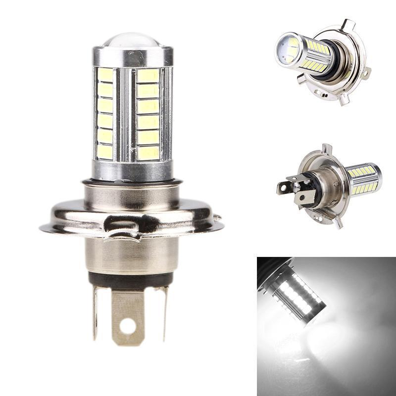 2Pcs Car H4 Led Headlight Bulbs 12W 5630 SMD 6000K 500LM LED Fog Light Headlight Bulb Driving Light Daytime Running Light DRL new arrival a pair 10w pure white 5630 3 smd led eagle eye lamp car back up daytime running fog light bulb 120lumen 18mm dc12v