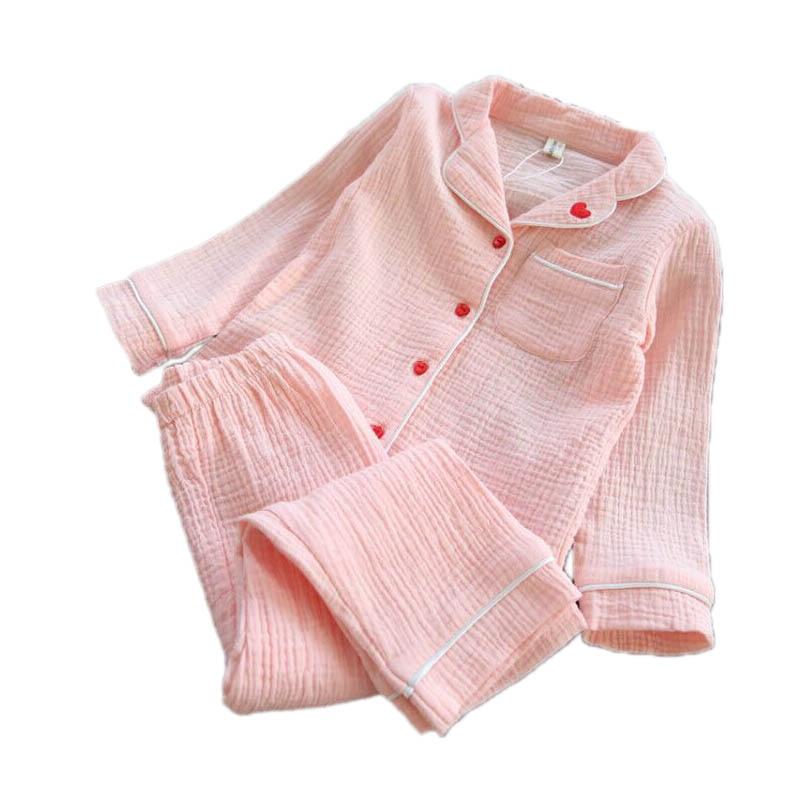 Linen kids pajamas sets Love Embroidery Kids Sleepwear sets Children Home wear Boys Girl ...