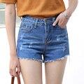 Yichaoyiliang Verão Casuais Shorts Jeans Mulheres Cintura Alta Ripped Breve Curto Jeans Mini Shorts Bottoms Borlas Hem Fêmea Magro