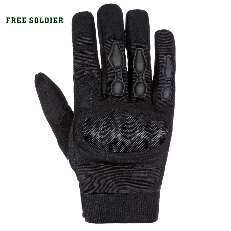 FREE SOLDIER Tactical  Full Finger Armor Men's Gloves Touch Screen Outdoor Gloves For Motorcycle Riding Gloves