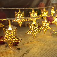 2sets 3M 30 LEDs Star Led String Lights Christmas Lights Holiday Wedding Party Decotation Strobe Night