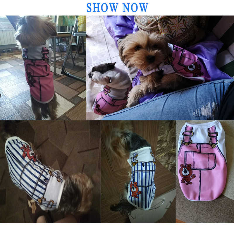 1 Pcs כותנה T חולצה ביגוד בגדי כלב אפוד כלב בגדי אפוד מוצרים לחיות מחמד גור קיץ אפוד קטן כלב כלבים בגדים
