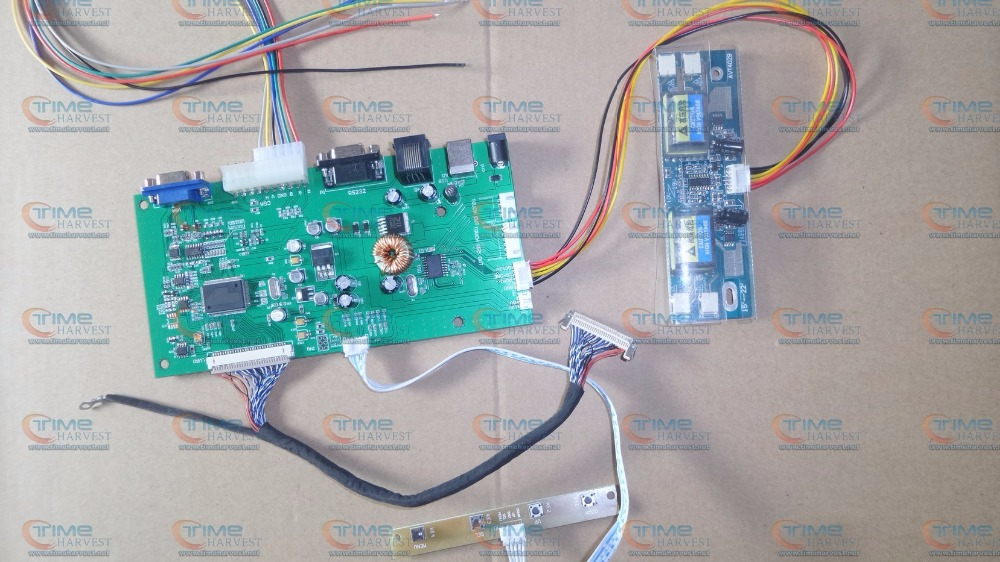 22 inches CGA LVDS converter board converting PCB LCD Drive element accessories for 22 inch LCD monitor Coin Arcade Game machine ...