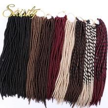 """Saisity искусственные локоны волосы кроше для наращивания синтетические дреды огромные косы волосы крючком богиня локоны зеленые плетеные волосы 1"""" 18"""""""