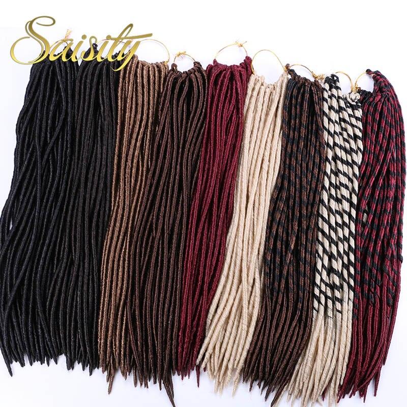 Saisity Faux Locs Crochet Hair Extension Synthetic Dreadlocs Jumbo Braid Hair Crochet Goddess Locs Green Braiding Hair 14