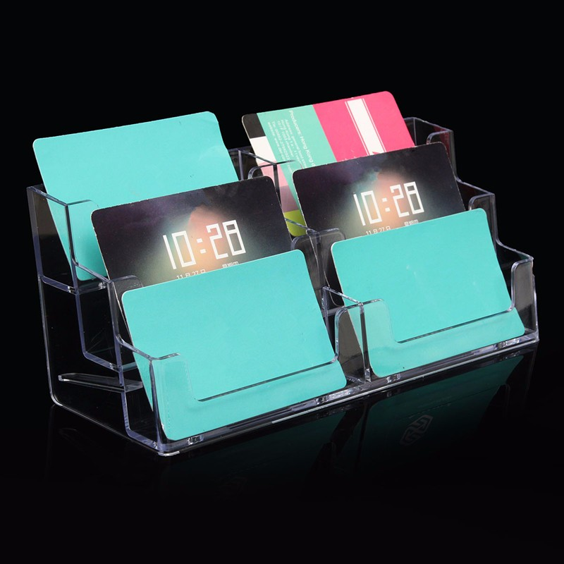 Best Price Acrylic Plastic 6 Pockets Desktop Business Card Holder ...