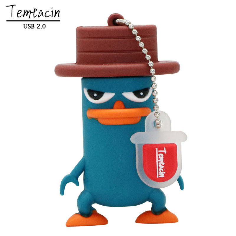 USB Flash Drive PenDrive Funny Lovely Perry The Platypus Shape Flash Memory 2.0 Pen Memory U Disk 4G 8G 16G 32G USB Drive