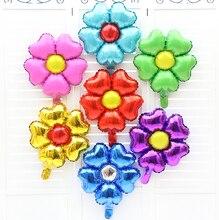 5pcs 45 45 cm font b Lovely b font Flower Cartoon Foil Balloon For Kids Birthday