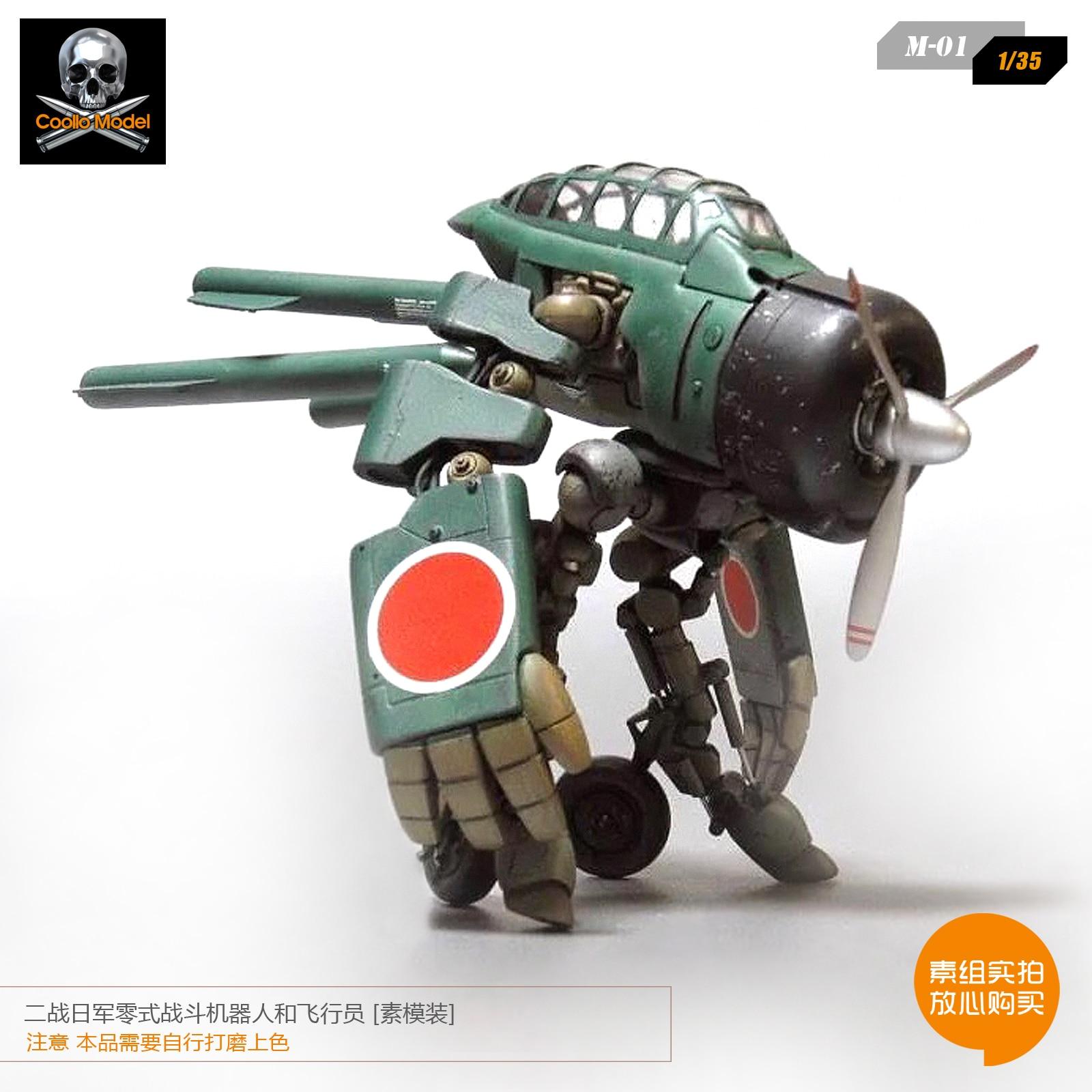 1/35 Guerra Mondiale II Zero Combattimento Robot Modello di Aeromobili e Pilota Della Resina Modello M 01 Smontato-in Kit di modellismo da Giocattoli e hobby su  Gruppo 3