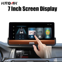 7 Wifi Car DVR Camera Android 4 4 GPS Navigation Video Recorder Bluetooth Dual Lens Camcorder