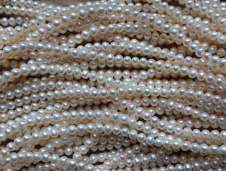 Naturalne wody słodkiej perła 7mm lekki ziarna jajka okrągłe koraliki DIY pół-gotowych produktów
