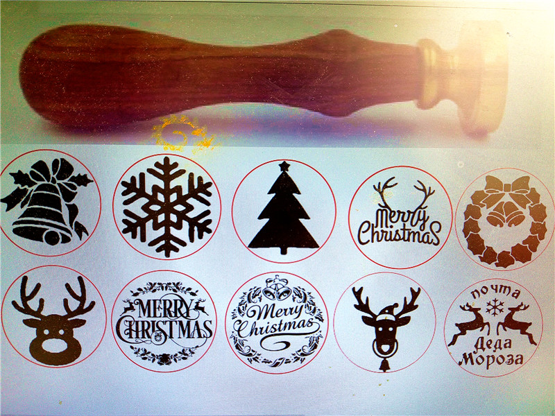 Xmas Deer//Snowflake//Jingle Bell Sealing Wax Seal Stamp for Party Invitation Card