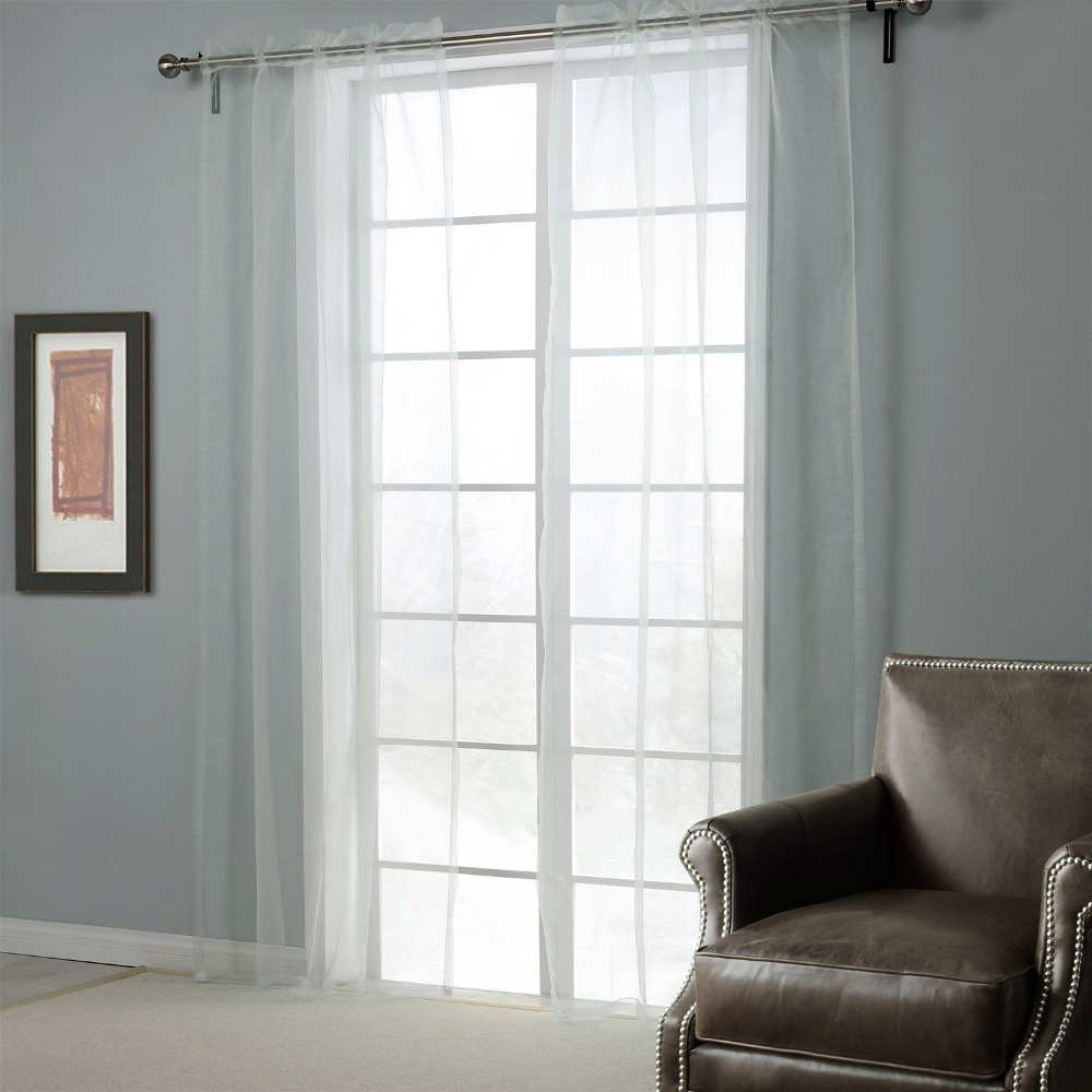 Sheer Bedroom Curtains White Window Screening Printed Solid Curtains For The Bedroom