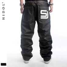 Оригинальные джинсы для скейтборда, мужские европейские 46, черные мешковатые штаны с принтом в стиле хип-хоп, брендовая одежда, SJ Kanye, хип-хоп брюки-карго
