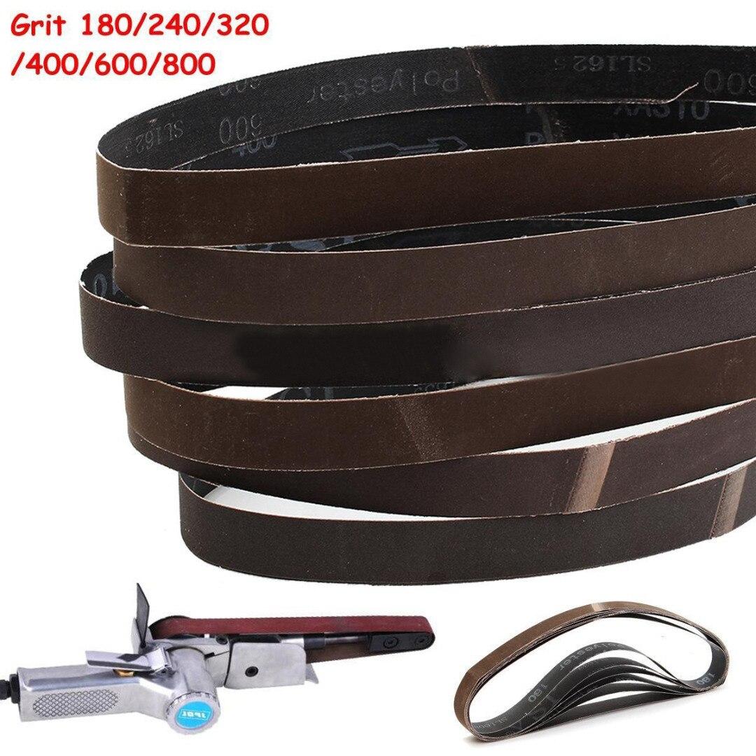 6pcs  1''x30'' 180/240/320/400/600/800Grit Sanding Belts Set Sander Power Tools 25*762mm