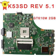 for Asus K53SD REV 5.1 laptop motherboard 60-N3EMB1300-025 Non-Integrated Graphics GT610M 2GB 100% tested