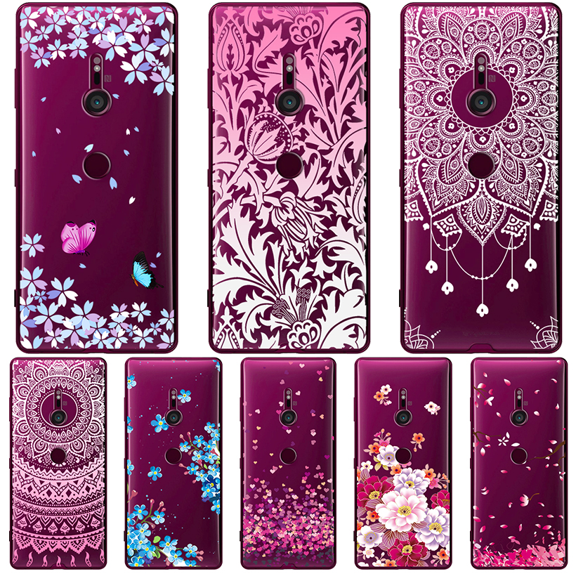 Phone <font><b>Cases</b></font> For <font><b>Sony</b></font> <font><b>Xperia</b></font> XA2 <font><b>XA1</b></font> Plus XA Ultra <font><b>Case</b></font> For <font><b>Sony</b></font> Z6 C6 G3121 Cover Transparent Painted <font><b>Silicone</b></font> Soft TPU Bumper image