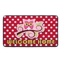CIGI Owl Printed Floor Mat Carpet Anti Slip Rug Cartoon Rectangular Door Mat Entrance Door Mat Kitchen Living Room Bedroom Mat
