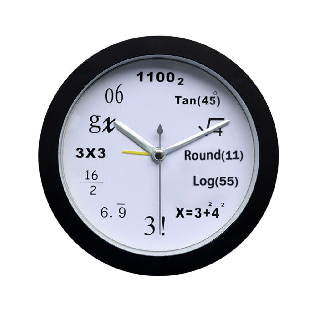 US $3 36 45% OFF|1PC 4 models Square Modern Mathematics Fashion Creative  Art Student Quartz Bedside Alarm Desk Clock decoration dropshipping 314W-in