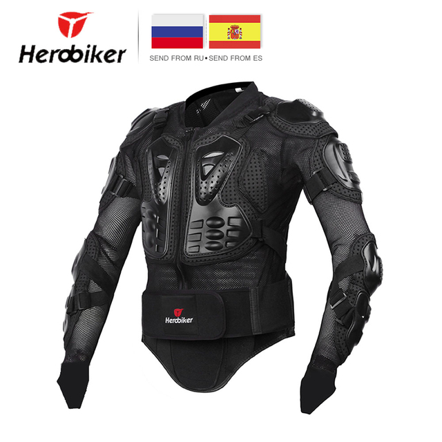 HEROBIKER Moto Veste Hommes Plein Corps Moto Armure Motocross Racing Équipement De Protection Moto Protection Taille S-5XL