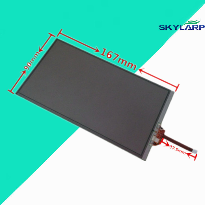 все цены на  wholesale Original New 7inch touch screen digitizer Glass Replacement for 167*90mm 167mm*90mm Navigation monitor Touch panel  онлайн