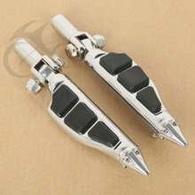 Motorcycle 1 Pair Stiletto Foot Pegs Footrests For Harley Softail 00-06 05 04 03