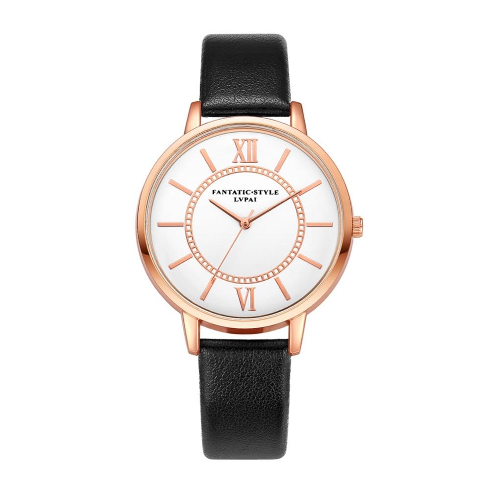 2019 Nieuwe Dames Horloges Mode Dames Leer Dameshorloge Kwarts Polshorloge montre femme relojes mujer zegarek damski