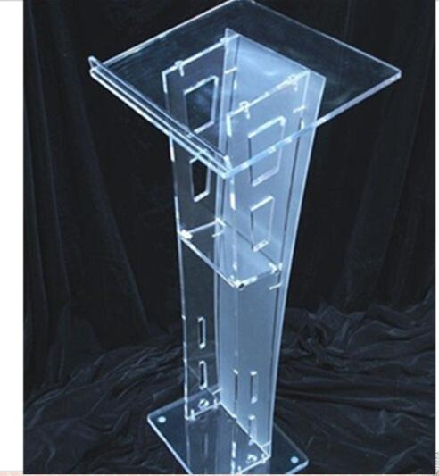 High Quality Cheap Clear Acrylic Lectern Decoration Free Shipping Plexiglass