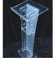 Plexiglass de alta Qualidade Barato Púlpito de Acrílico Transparente decoração Frete Grátis
