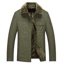 M-8XL Thick warm men jacket winter fashion Slim Top  2019 new plus velvet army green bomber cotton man jackets Plus size