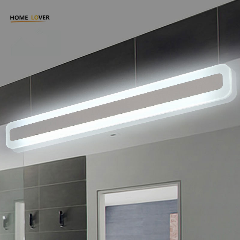 Modern bathroom / toilet LED front mirror lights for bathroom Acrylic mirror lights fashionable design Dressing table lampada modern minimalist led anti fog mirror lights mirror front lights bathroom toilet mirror front mirror light cabinets with switch