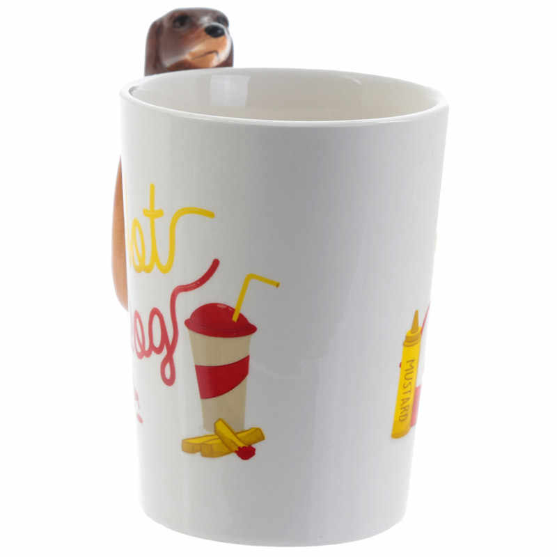 2316d84faad ... Dachshund Sausage Pet Dog Personalised Mug Unique Sausage Dog Gift  Funny Fast Food Sausage Puppy Bassotto ...