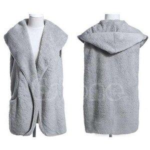 Image 5 - Women Hoodie Long Vest Sleeveless Jacket Faux Lamb Fur Coat Waistcoat Outerwear