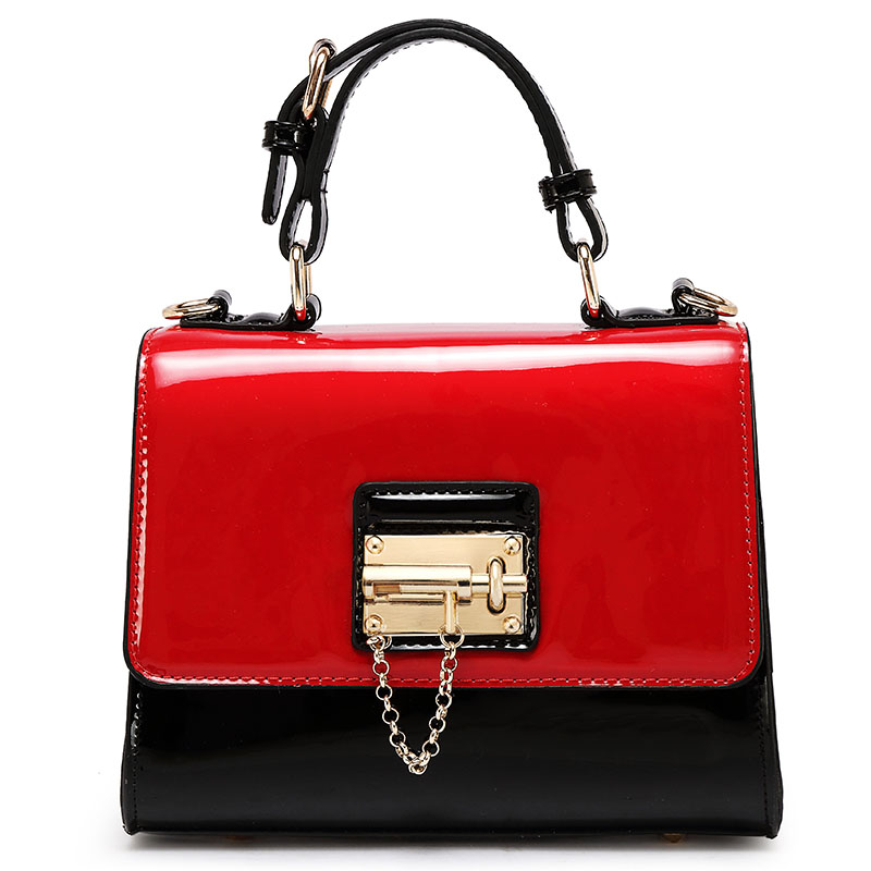 Women Patent Leather font b Handbags b font Messenger Shoulder Bags Korean Version Famous Brand Fashion