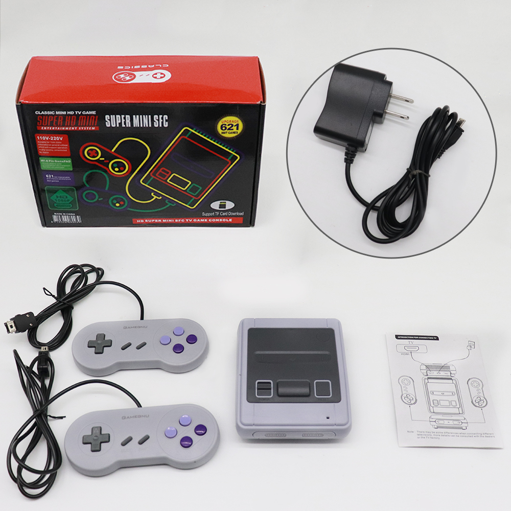 Built-in 621 Mini HD TV Video Game Console Handheld Retro Family Game Console Classic Games Wired