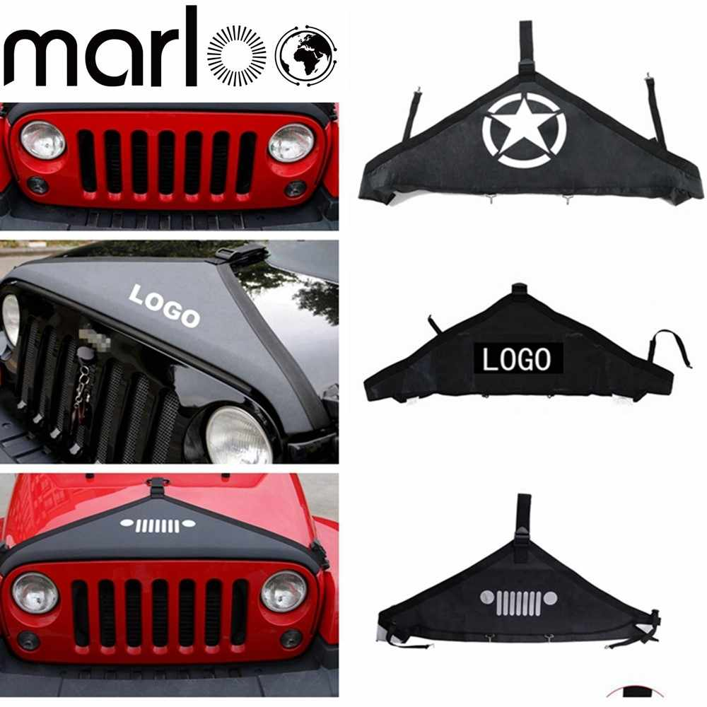 Jeep Wrangler Accessories 2017 >> Marloo Wrangler Accessories Front Hood Cover Front Hood Bra Protector T Style For Jeep Wrangler Jk 2007 2017