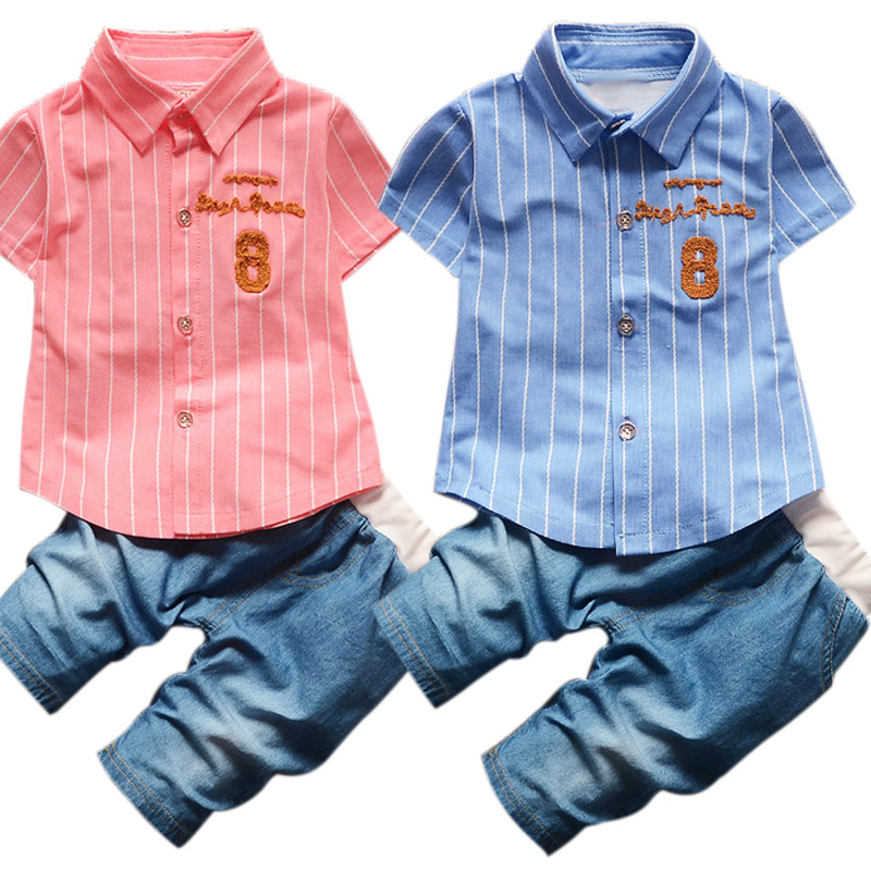 Toddler Children Summer Baby Boys Clothing Sets Gentleman Clothes Suits Kids Sweatshirt Child Formal Shirt+Short Jeans @ZJF kids clothes boys clothing sets summer sport suit children short sleeve camouflage pant suits 1 4t toddler tracksuits 2017