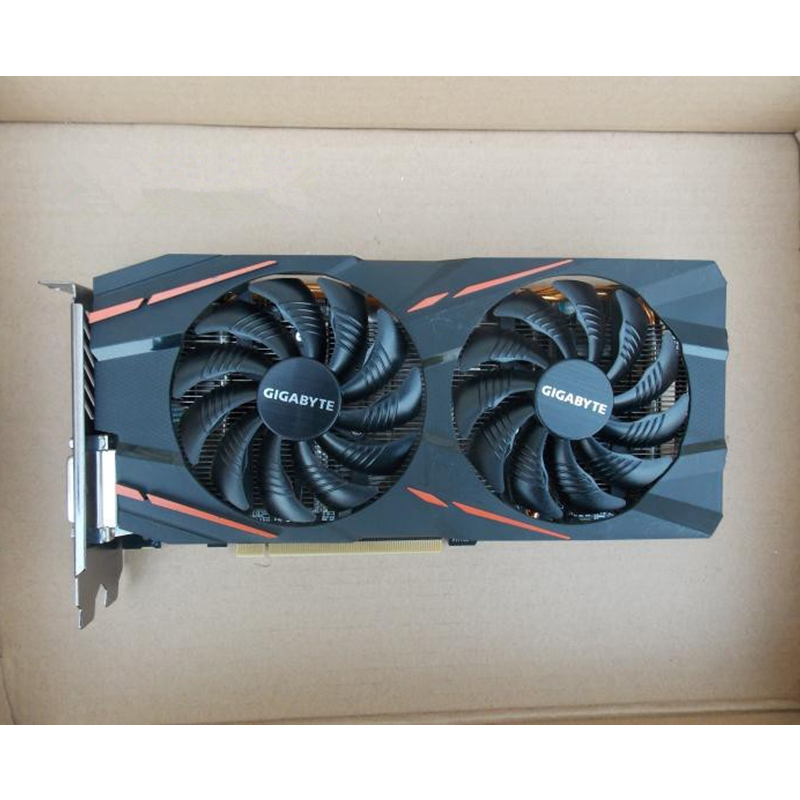 GIGABYTE RX 580 4GB Gaming Graphics Card Radeon GPU RX580 Gaming 4G Video  Cards For AMD Video Cards Map HDMI PCI-E Not Mining