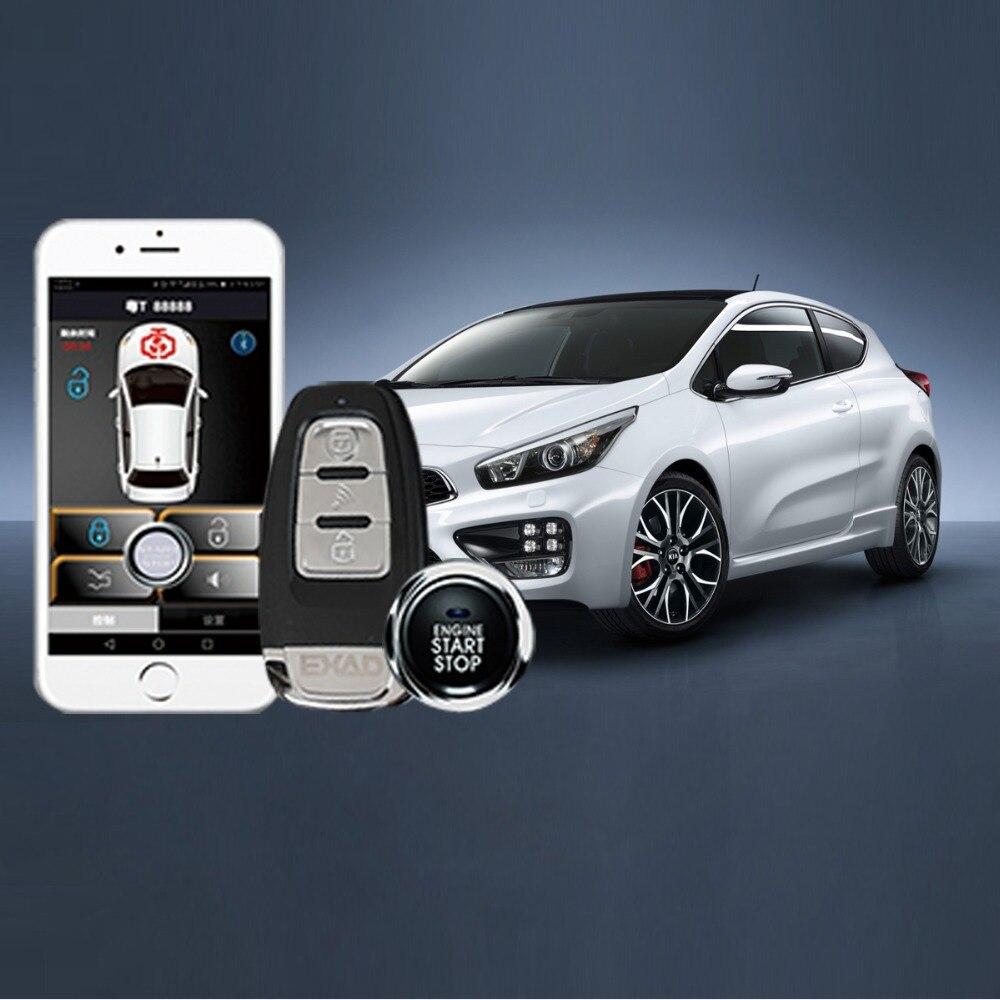 Alarme de voiture système d'entrée sans clé clé de démarrage automatique fob alarme de voiture verrouillage central bouton d'arrêt de démarrage téléphone portable démarrage automatique à distance