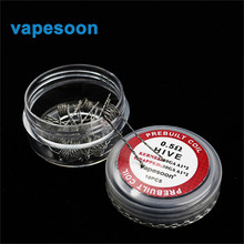 1 box vapesoon Electronic Cigarette replacement Hive Coil premade Wire 0.5ohm for Vape DIY RDA RBA Atomizer Vaporizer