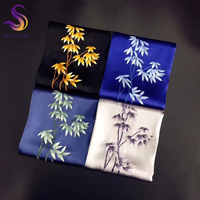 [BYSIFA] Luxury Black Gold Silk Scarf Shawl Women 2018 New Chinese Style Embroidery Bamboo Pure Silk Ladies Long Scarves Wraps