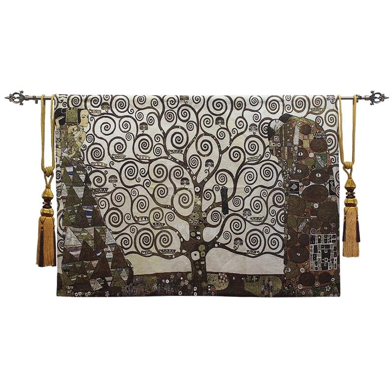 100x140 см 100% хлопок средневековый Zamioculcas искусство Европейское украшение для дома бельгийский гобелен настенный подвесной роскошный настенный Декор одеяло - 5