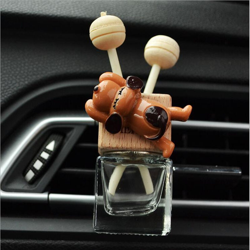 Car Air Freshener Puppy In the Conditioning Outlet Perfume Clip Aromather Fragrance Diffuser Auto Accessorie